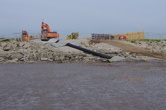 Cable laying site, Heysham
