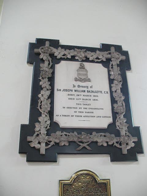 St Mary's church, Wimbledon: Bazalgette memorial