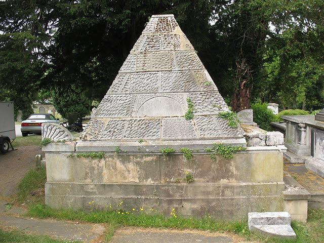 St Mary's church, Wimbledon: Pyramidal tomb