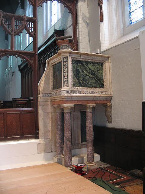 St John's church: pulpit
