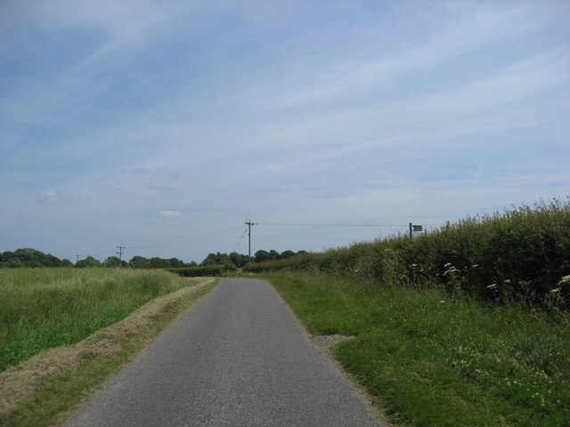 Grainsby Lane and public footpath sign