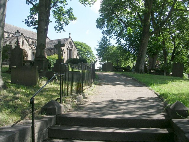 St Oswald's Church Path - The Green