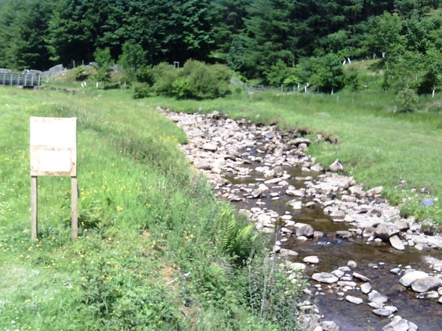 River and sign