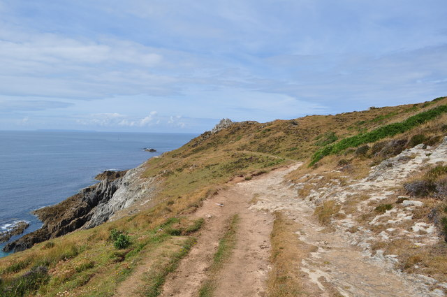The South West Coast Path almost at Morte Point