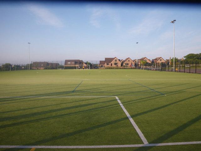 Astroturf football field in Portlethen