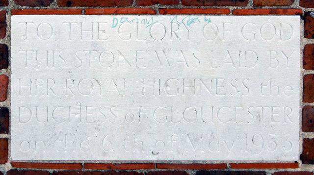 St Barnabas (old church), Rushet Road, St Paul's Cray, Kent - Foundation stone