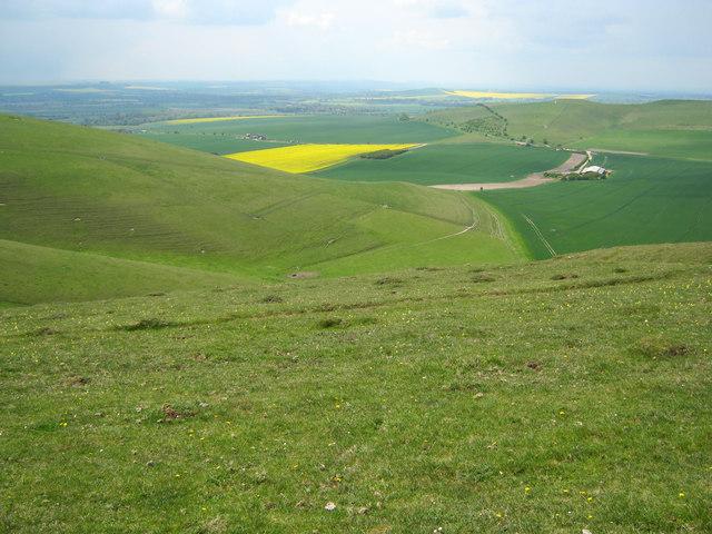 Western flank of Milk Hill