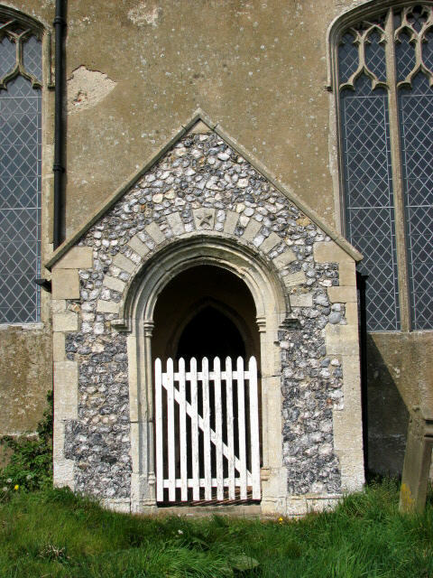The church of SS Peter and Paul in Knapton - priest door