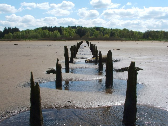 Remains of a jetty
