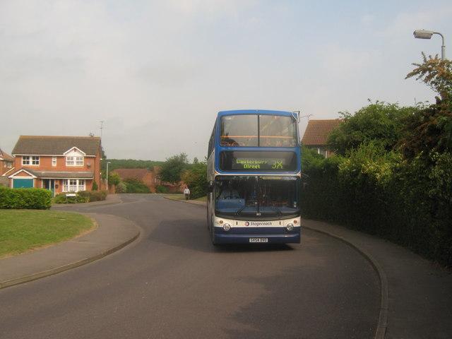 Bus 3X on Wildish Road