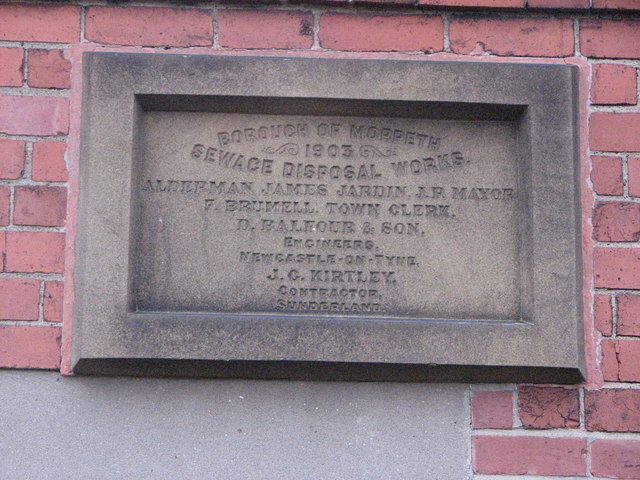Commemorative plaque, Morpeth
