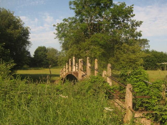 Footbridge over the River Eden