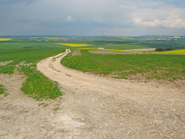 Farm track on All Cannings Down