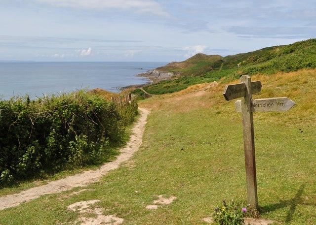 The South West Coast Path just above Grunta Beach