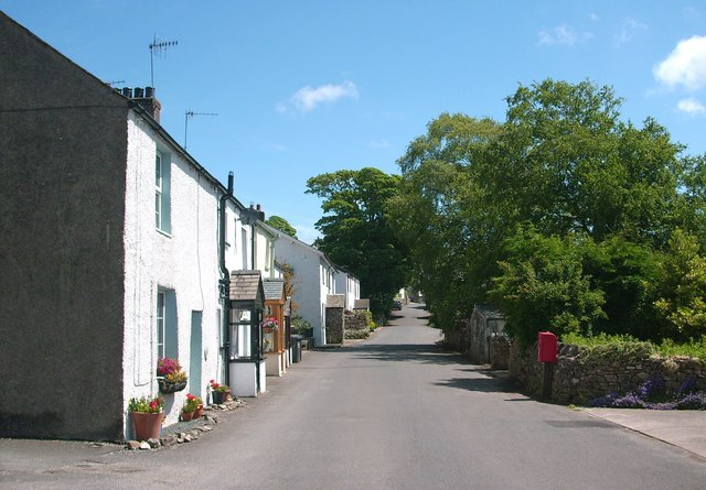 A narrow road through Great Urswick