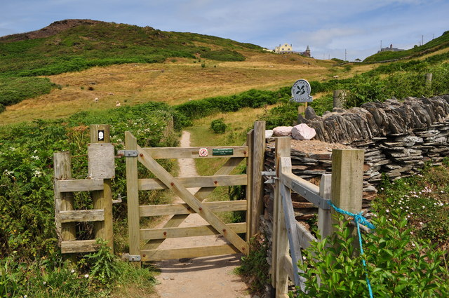 A gateway to the headland known as Morte Point and managed by The National Trust