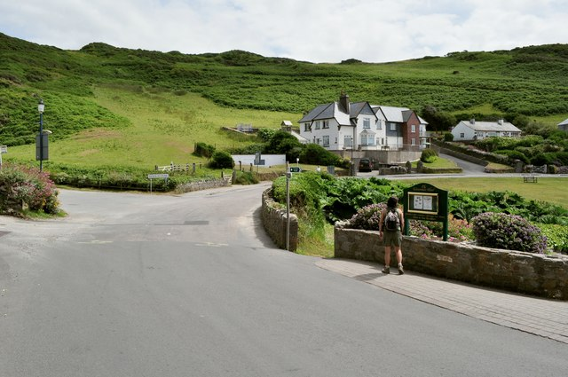 Entering Woolacombe from Mortehoe