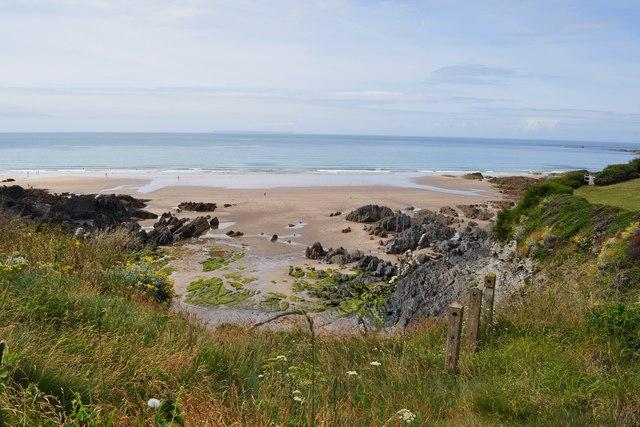 Coombesgate Beach in Morte Bay