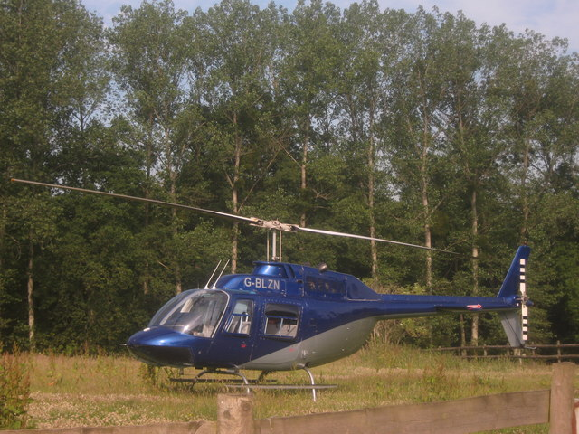 Helicopter near Keeper's Cottage