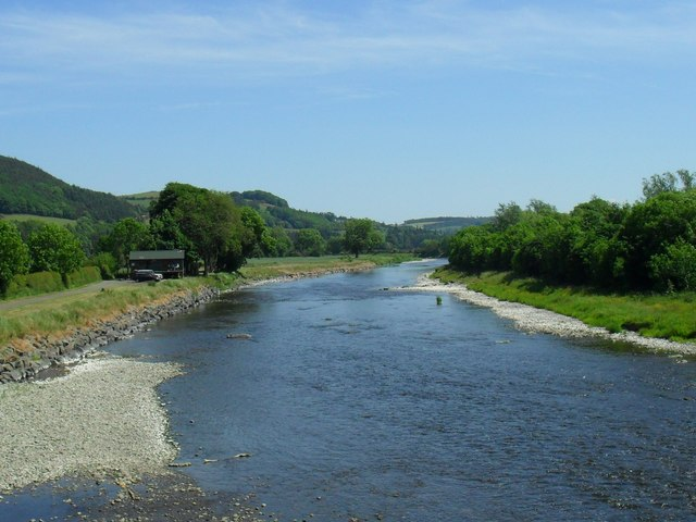 The River Tweed heading for Leaderfoot