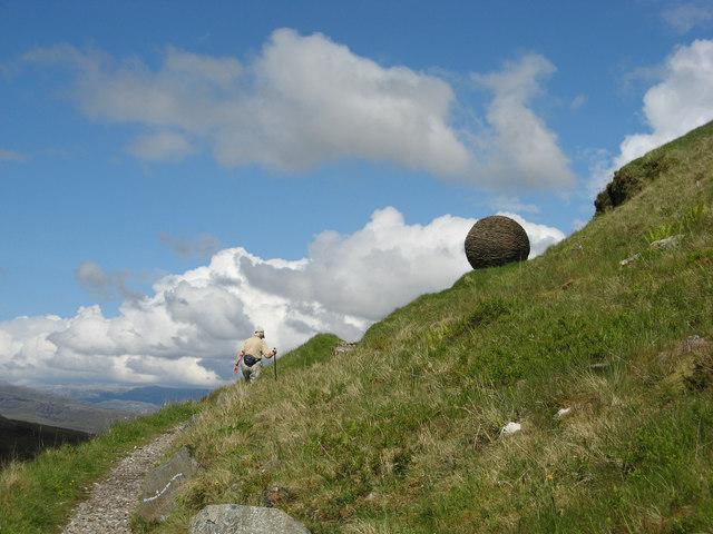 Globe Sculpture at Knockan Cliff