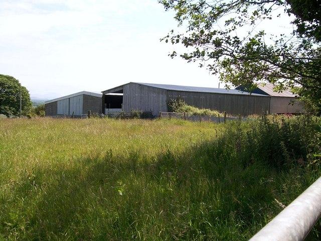 Farm buildings at Ty'n y Coed Uchaf