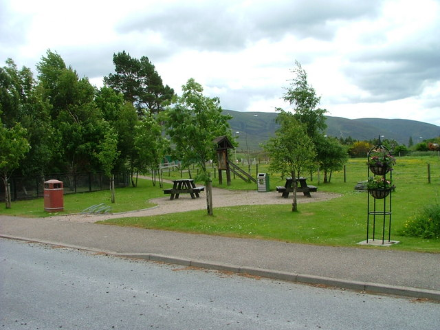 Picnic area in Dalwhinnie