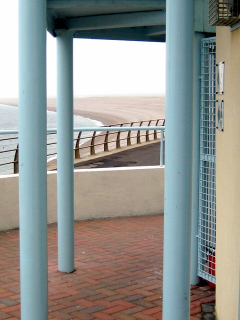 Pillars and railings - Chesil Cove Portland