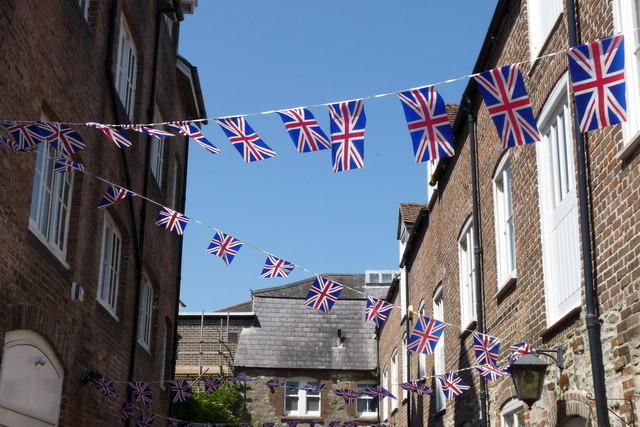 Flags at Dorchester, Dorset