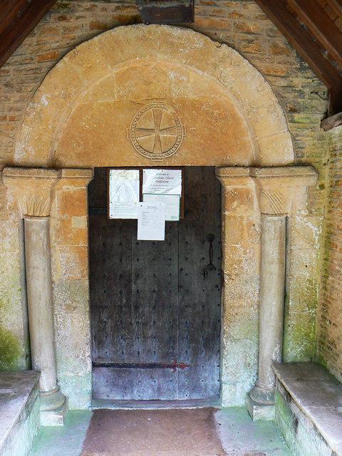 South door, St Nicholas' Church, Biddestone