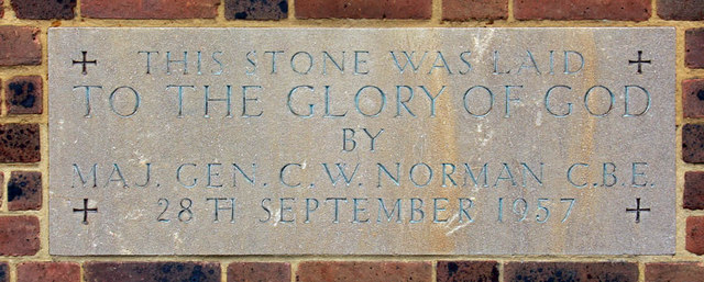 St Augustine Southborough Lane, Bromley Common, Kent - Foundation stone
