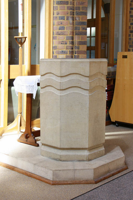 St Augustine Southborough Lane, Bromley Common, Kent - Font