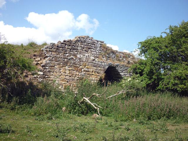 Derelict lime kiln, Brackies Burn