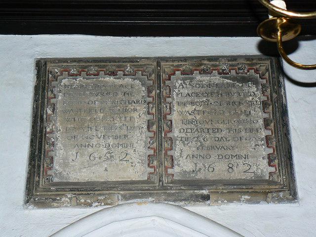 Memorial, St Nicholas' Church, Biddestone