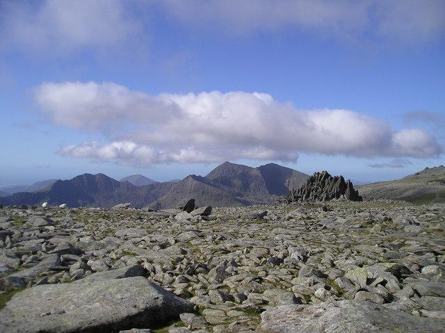 Summit plateau, Glyder Fach