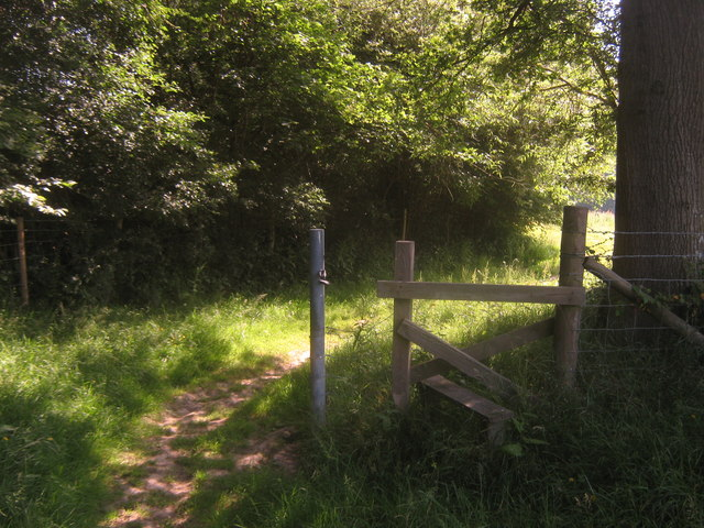 Unused stile near Wilkins Gill Wood