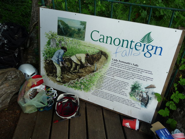 Canonteign Falls : Information Display
