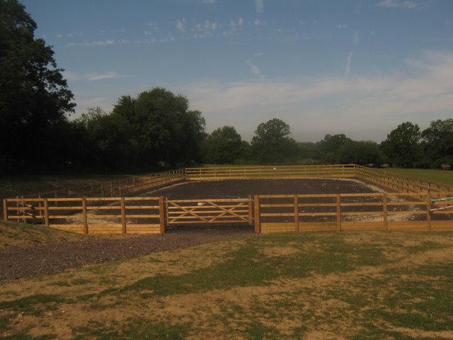 Horse training area near Pigdown Farm