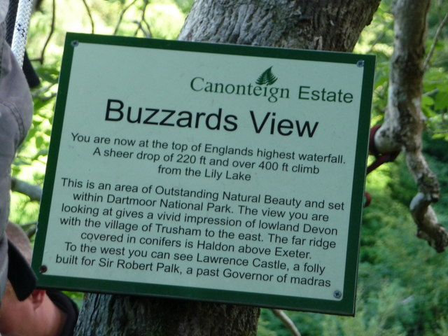 Canonteign Falls : Buzzards View Information