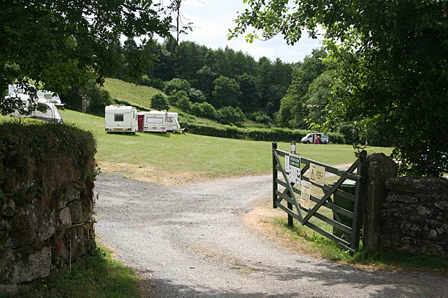 Widecombe in the Moor: Cockingford camp site