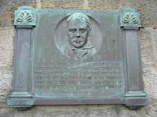 Sir Walter Scott plaque