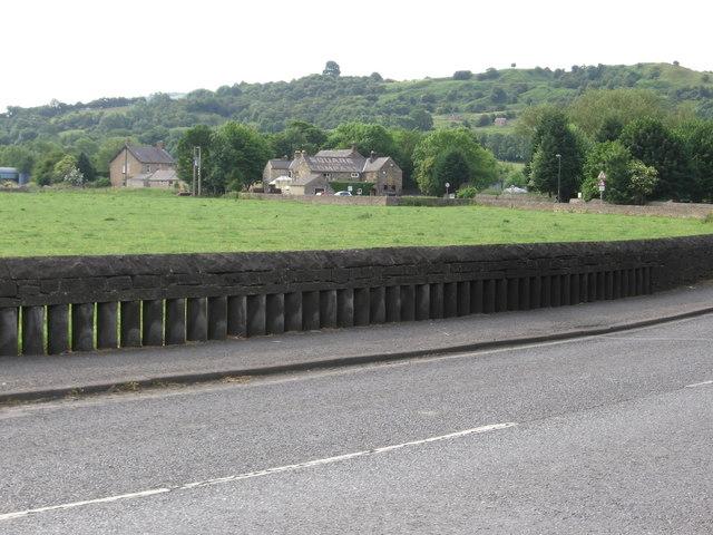 Darley Bridge - flood wall