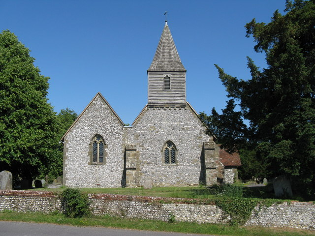 West side of St James, the village church of Heyshott