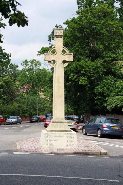 War Memorial, Kingswood Road, Shortlands, Kent -