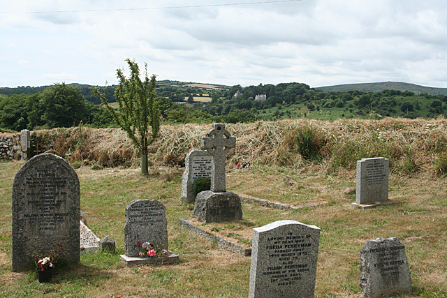Buckland in the Moor: St Peter's churchyard