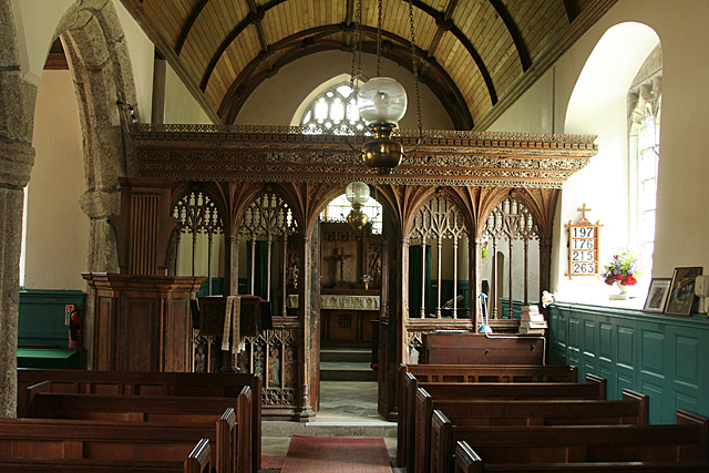 Buckland in the Moor: St Peter's - the rood screen