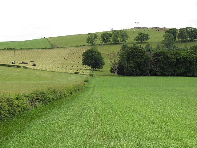Arable land beneath Bemersyde Hill
