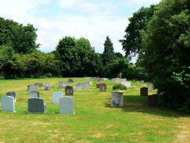 East along Biddestone Cemetery