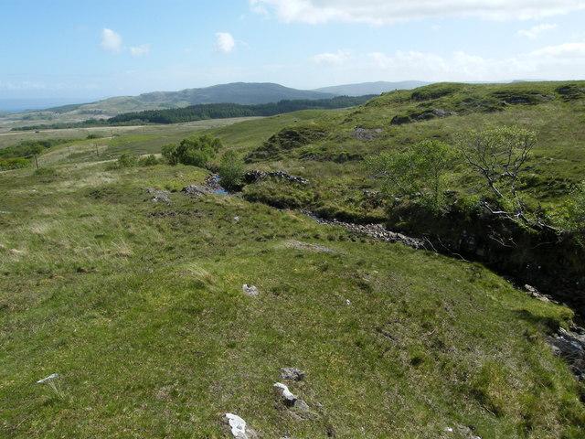 Looking down the route of the Allt a' Chonnaidh