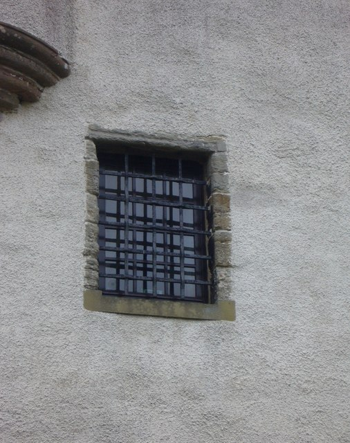 Fa'side Castle window with iron grille